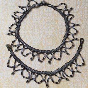 Handmade Beaded Choker and Bracelet Set